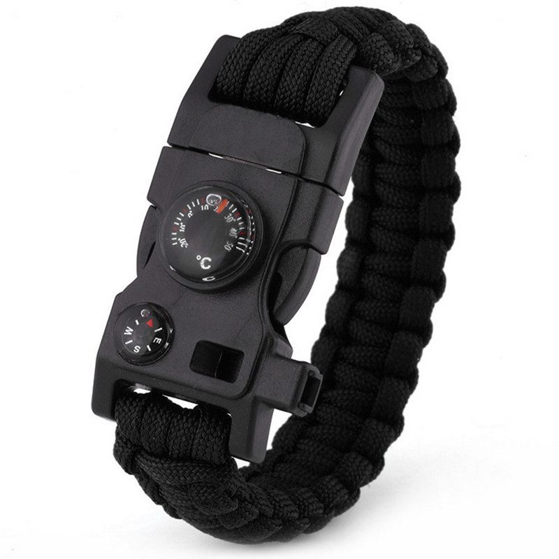 Multi-function paracord survival bracelet outdoor camping emergency rope bangle