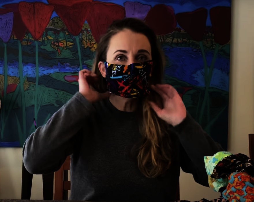 How To Make No Sew Face Mask With LulaRoe Leggings