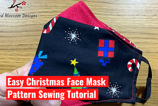 DIY Christmas Face Mask Easy Pattern Sewing Tutorial- Part 2